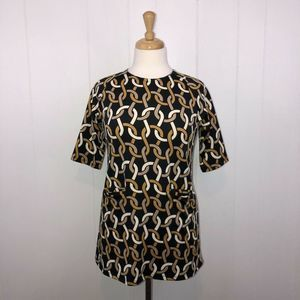 Julie Brown Chain Link Blouse Top L